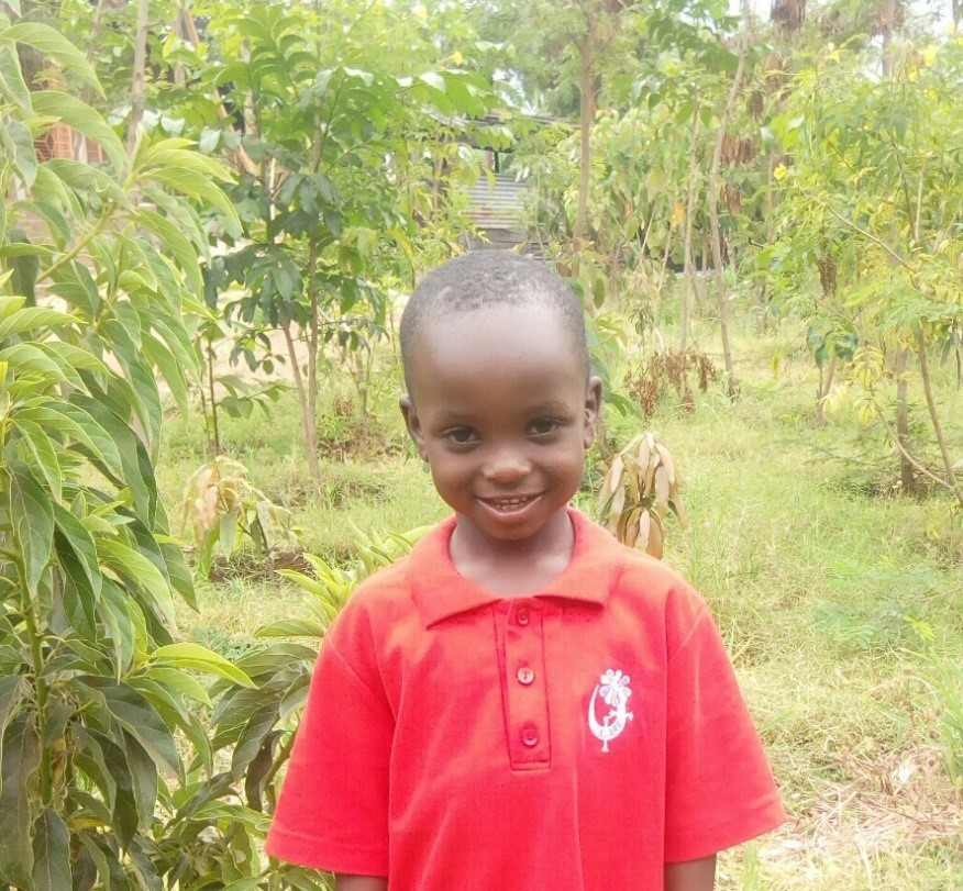 Fredrick - Jambo! Jambo! My name is Fredrick, I am 5 years old. I like eating rice. I enjoy playing with toys. What makes me happy is playing with other kids. I don't enjoy playing alone. When I grow up I would like to become a teacher.
