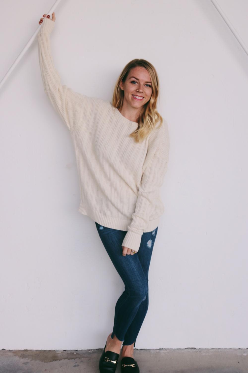 white sweaters