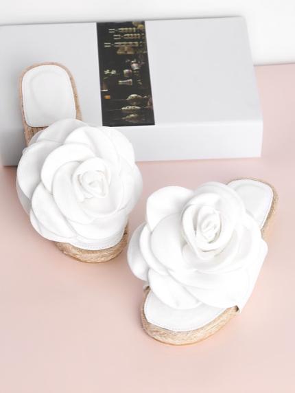 Flower Embellished Sandals