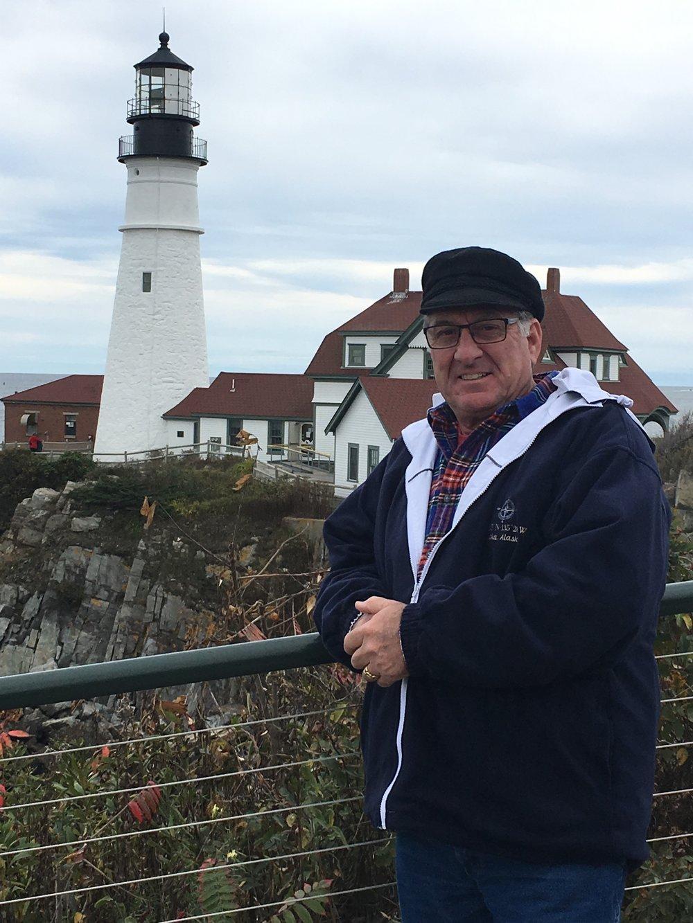 Paul and Lighthouse.JPG