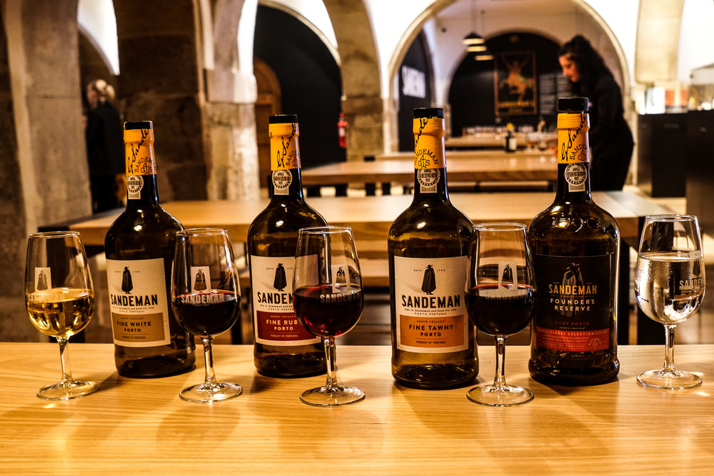 A tasting at Sandeman, the largest port winery in Portugal.