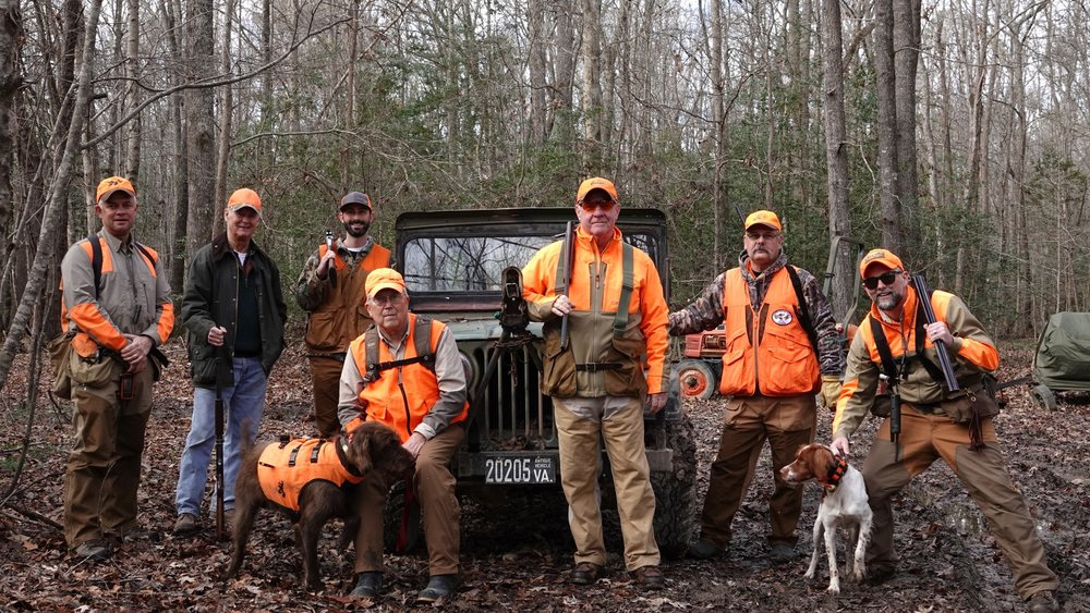 The full team of Timberdoodle hunters on 12/22/18 (photo credit: John Feasel)