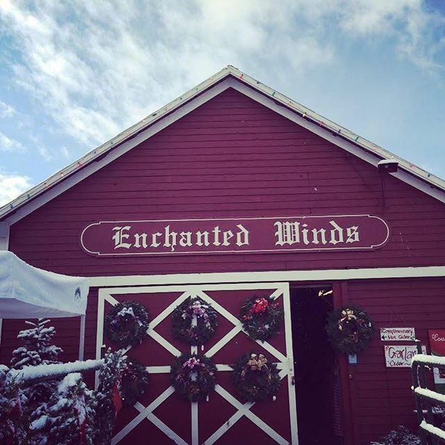 Enchanted Winds barn! Come in to warm up with complimentary apple cider and cookies.