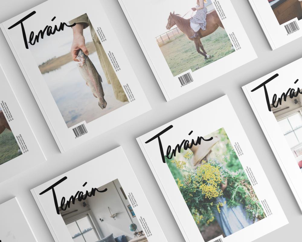 TERRAIN MAGAZINE  A magazine design that focuses on celebrating the lives of women living in rural areas of Australia.