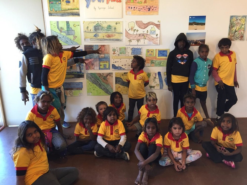Yipirinya Primary School students.  Photo: Sallie Fiddock