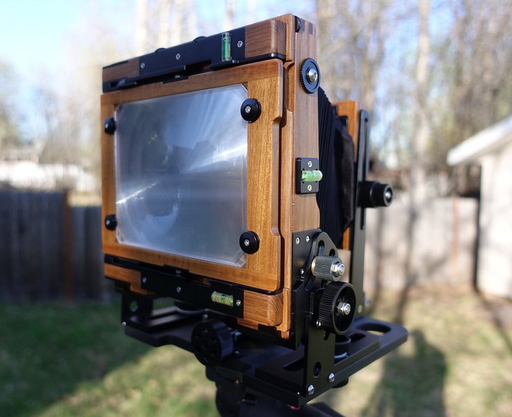 The rear of the camera