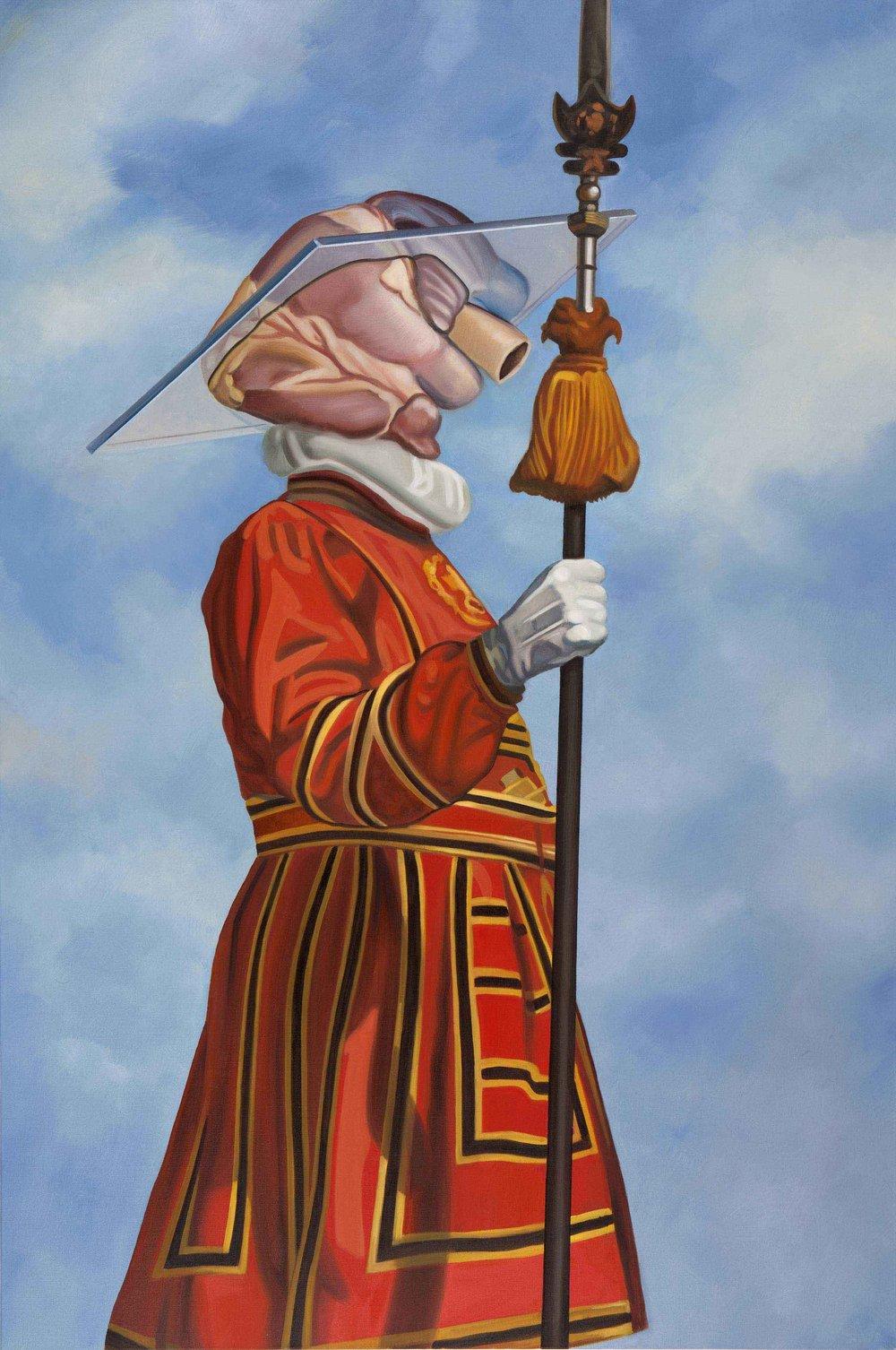 Interdimensional Guard , 2015. Oil on canvas, 150 x 100 cm.