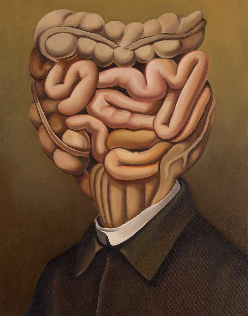 Victorian Freak , 2014. Oil on canvas, 70 x 55 cm.