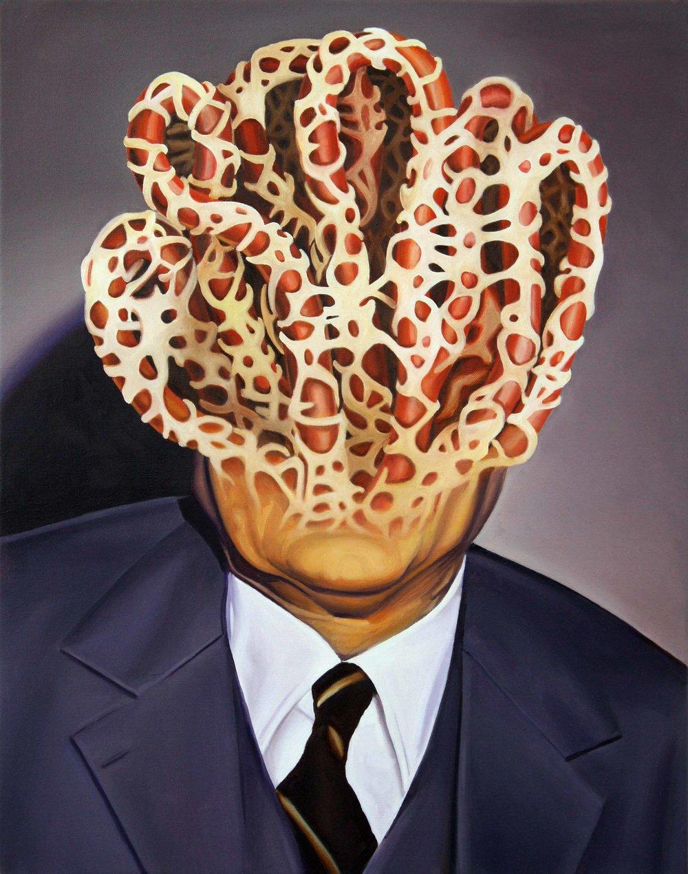 Nephron Man , 2014. Oil on canvas, 70 x 55 cm.