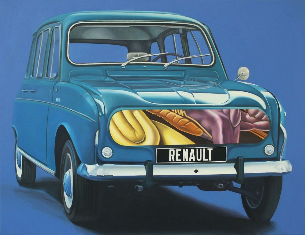Renault , 2014. Oil on canvas, 100 x 130 cm.