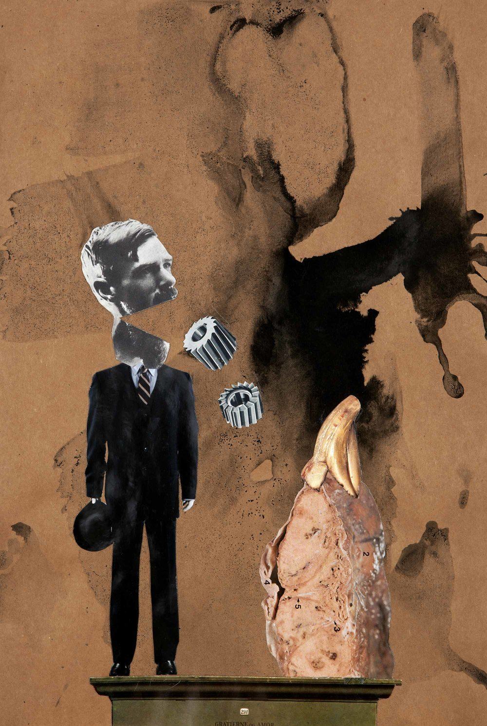 Interesting Conversation , 2012.Collage and indian ink on paper, 42,5 x 28,6 cm.