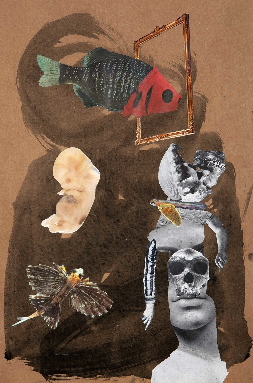 Beware the Ides of March , 2012. Collage and indian ink on paper, 42,5 x 28,6 cm.