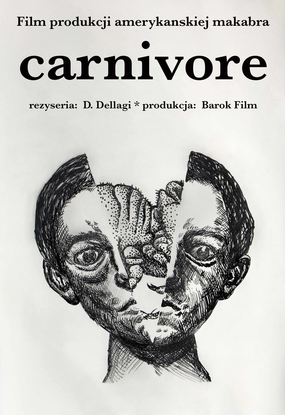 Carnivore Film Poster , 2013. Print on drawing, 98 x 68 cm.