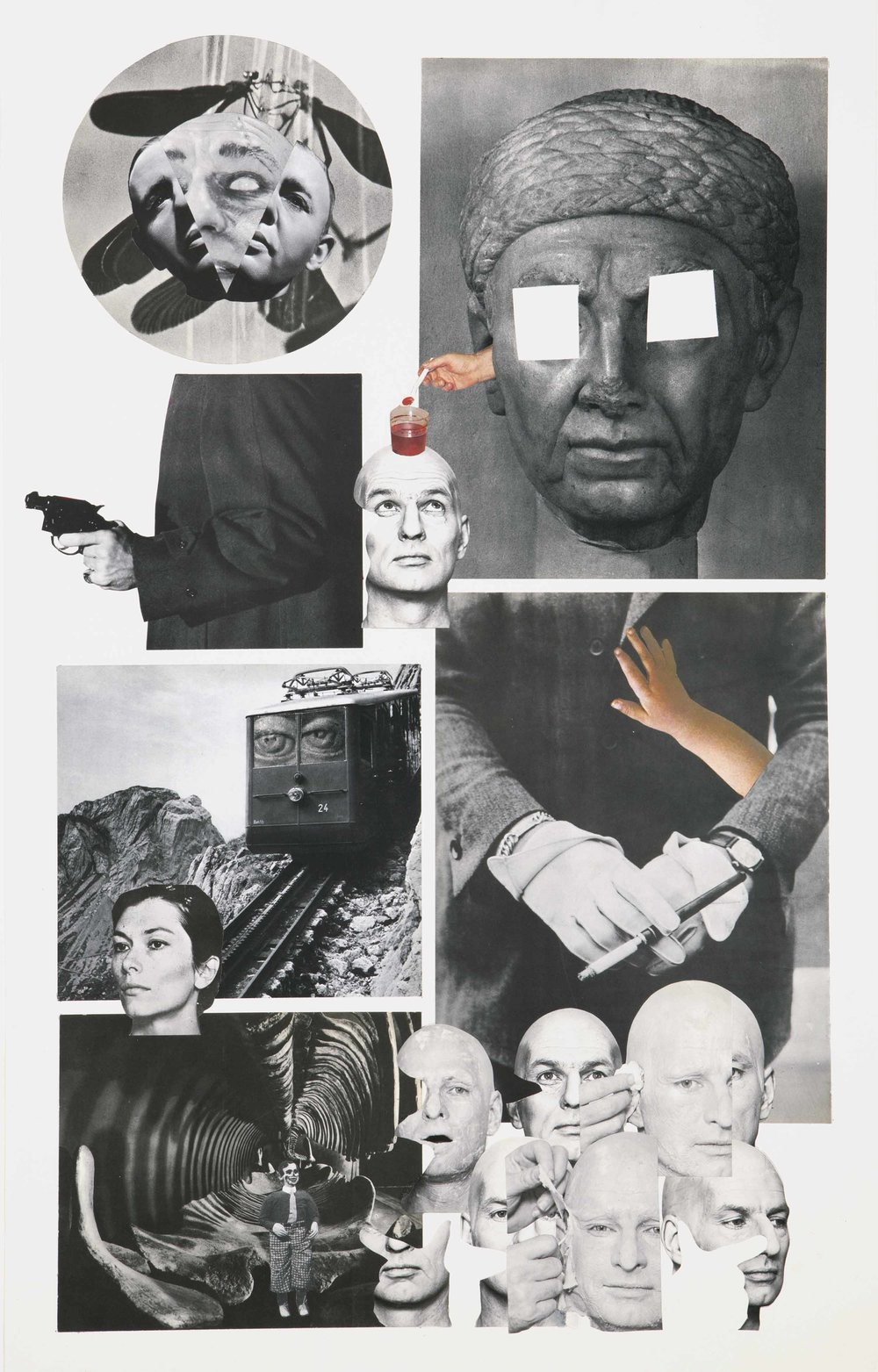 My Death , 2013. Collage, 80 x 50 cm.