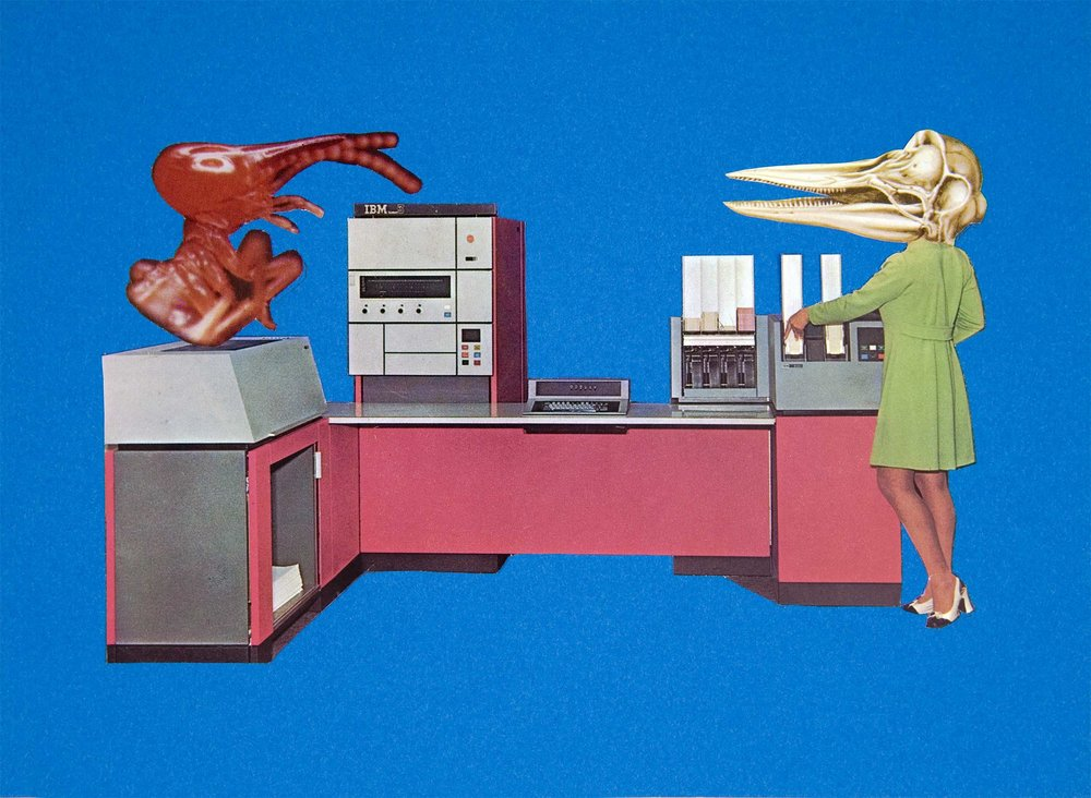 Laboratory , 2007. Collage, 14,5 x 21 cm.