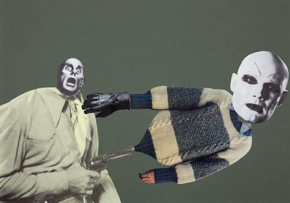 The Mephisto Gun , 2007. Collage, 29,7 x 42 cm.