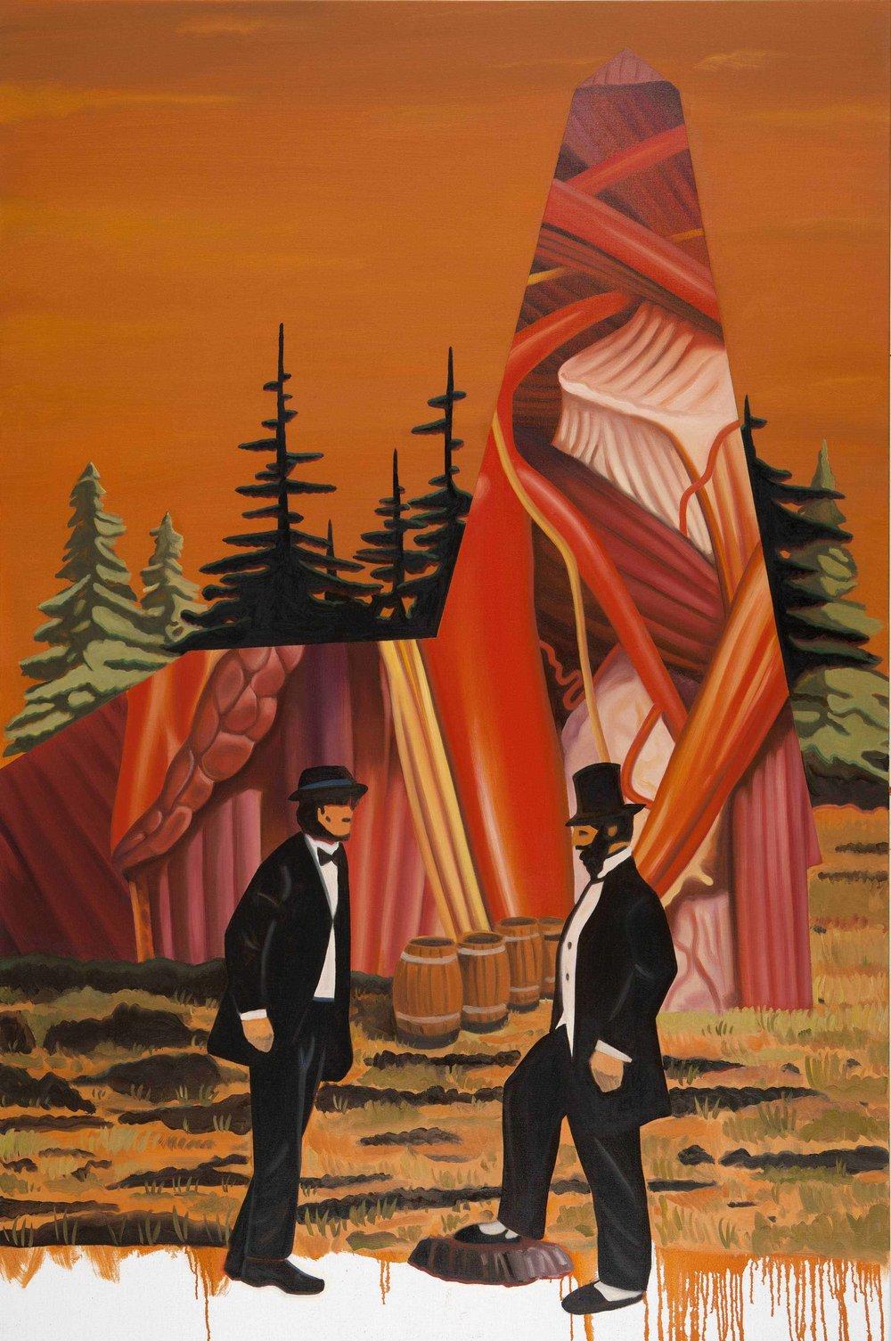 Flesh Refinery , 2014. Oil on canvas, 180 x 130 cm .