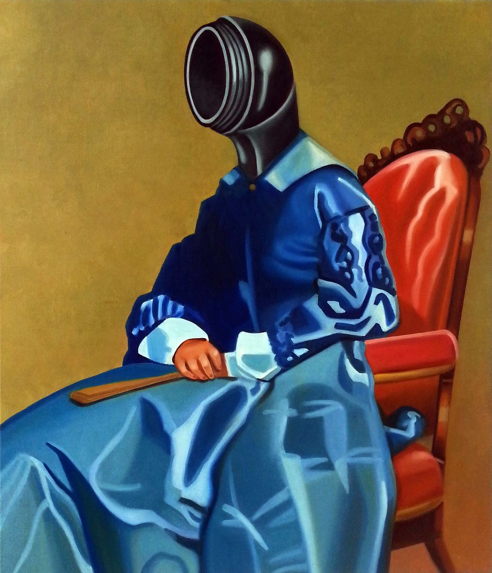 Lady Telephone , 2015. Oil on canvas, 90 x 75 cm.