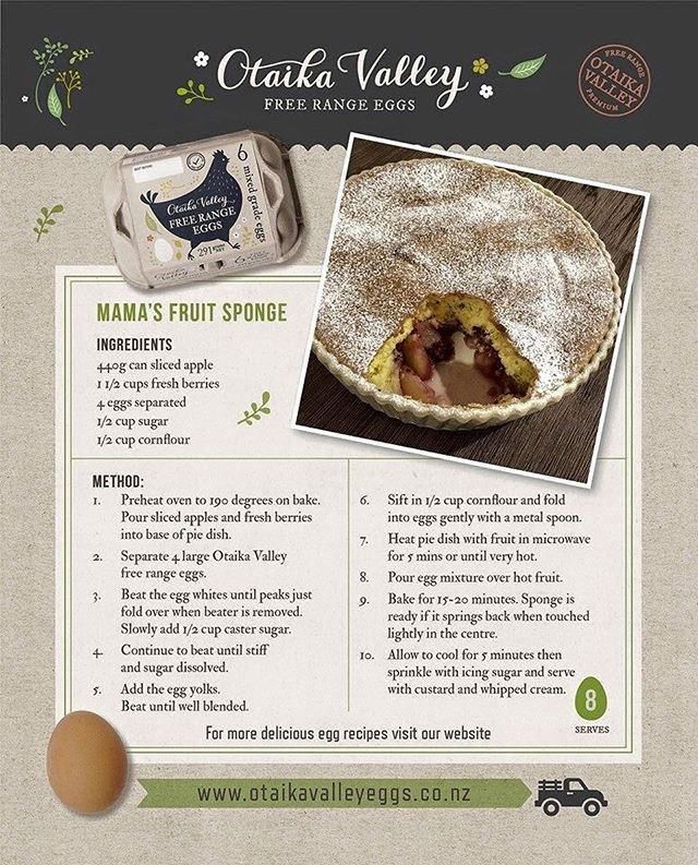 Our feijoa sponge video seems to be a hit! This has to be the easiest most EPIC fruit sponge made with our premium free range #otaikavalleyeggs of course. Here's a copy of the recipe. Have you made it yet?..Tag a fellow #feijoalover
