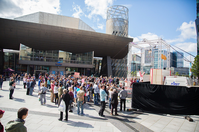 A picture from The Lowry's first Open Day 2017.