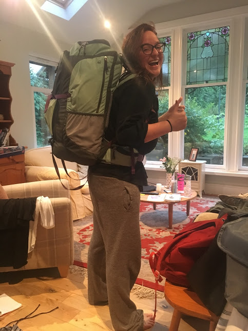 The night before I started my 5 months of living out of a backpack.