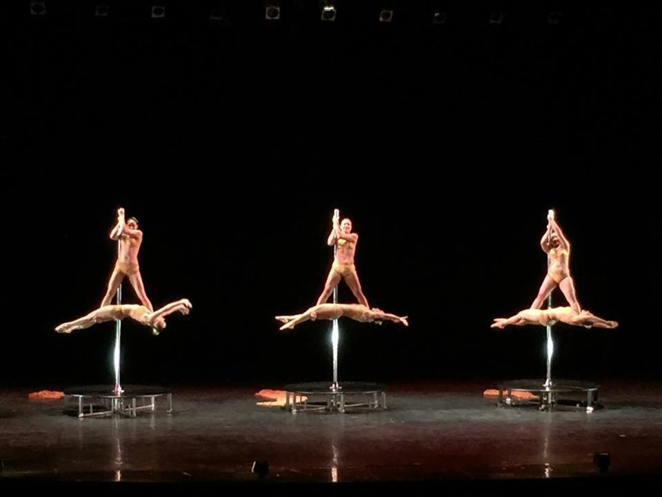 Pole Doubles Performance at International Dance Day