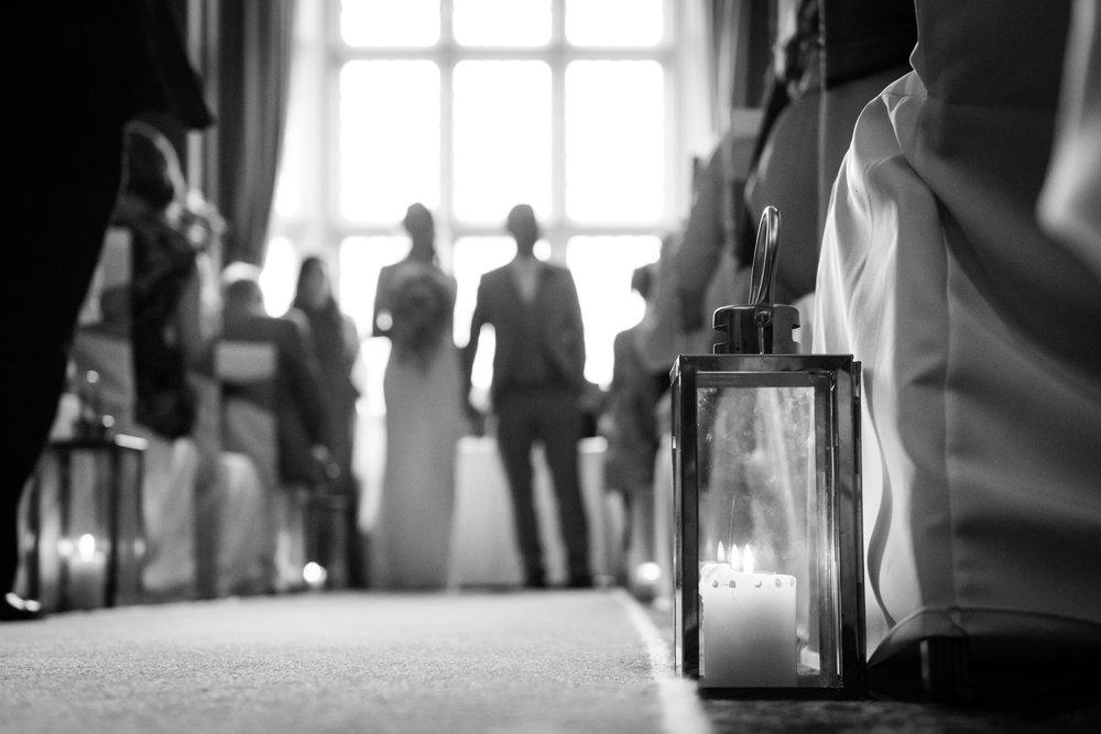 Wedding ceremony at Crewe Hall