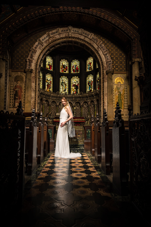 Bride at Crewe Hall Chapel