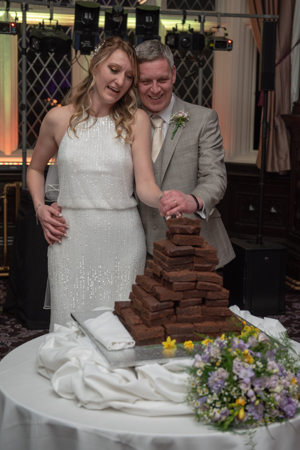 Cutting the cake at Crewe Hall