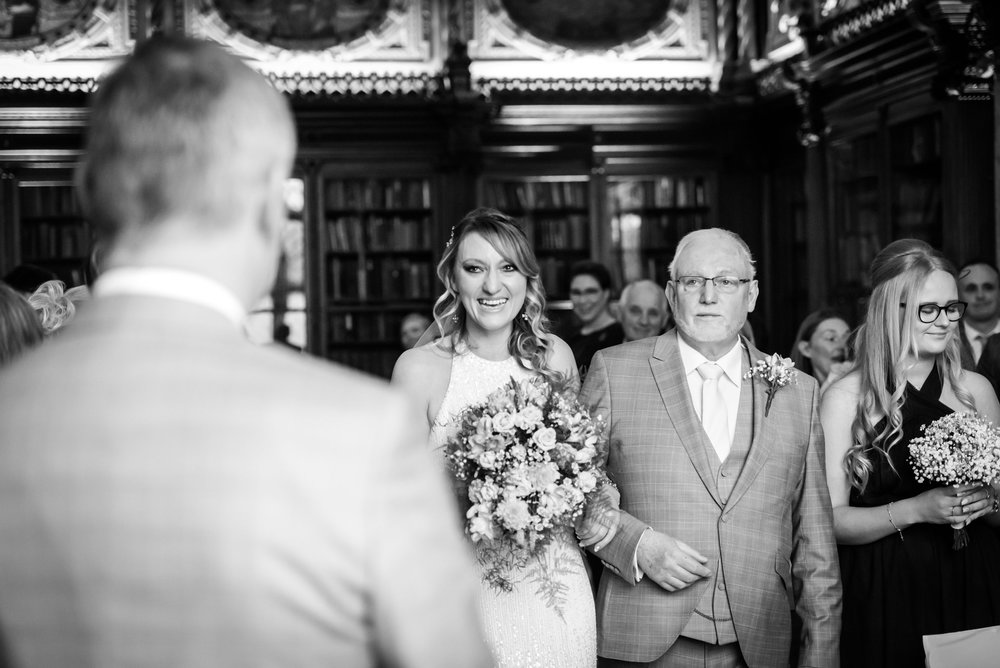 Bride sees the groom for the first time
