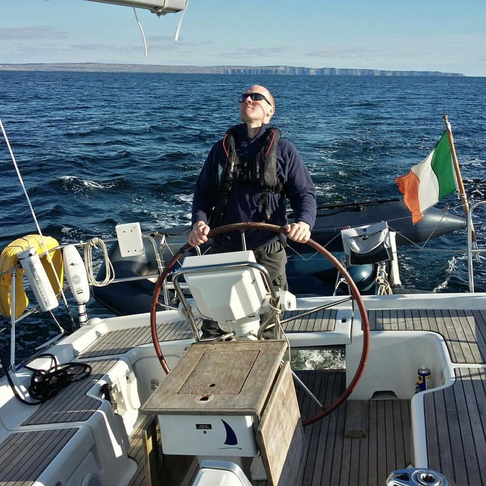 Skipper Ciaran Oliver.