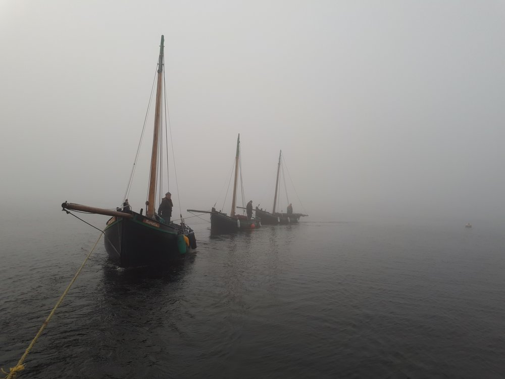 Traditional Galway Hooker Sailing Boats.