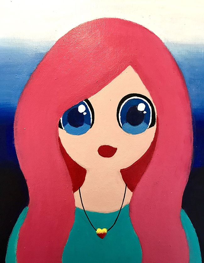 My character  by Emerald Acrylic on board