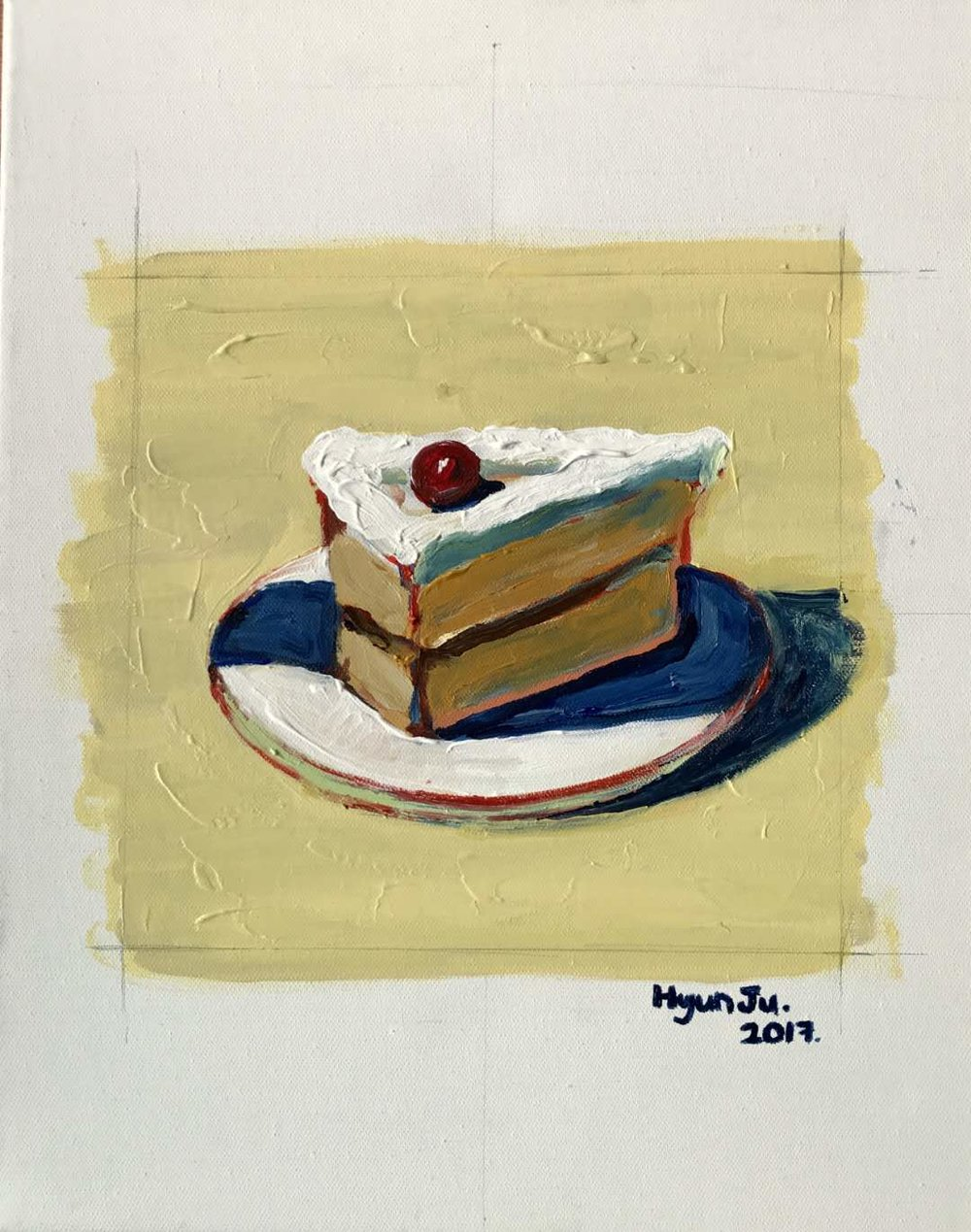 Cake  by Hyunju Acrylic on canvas