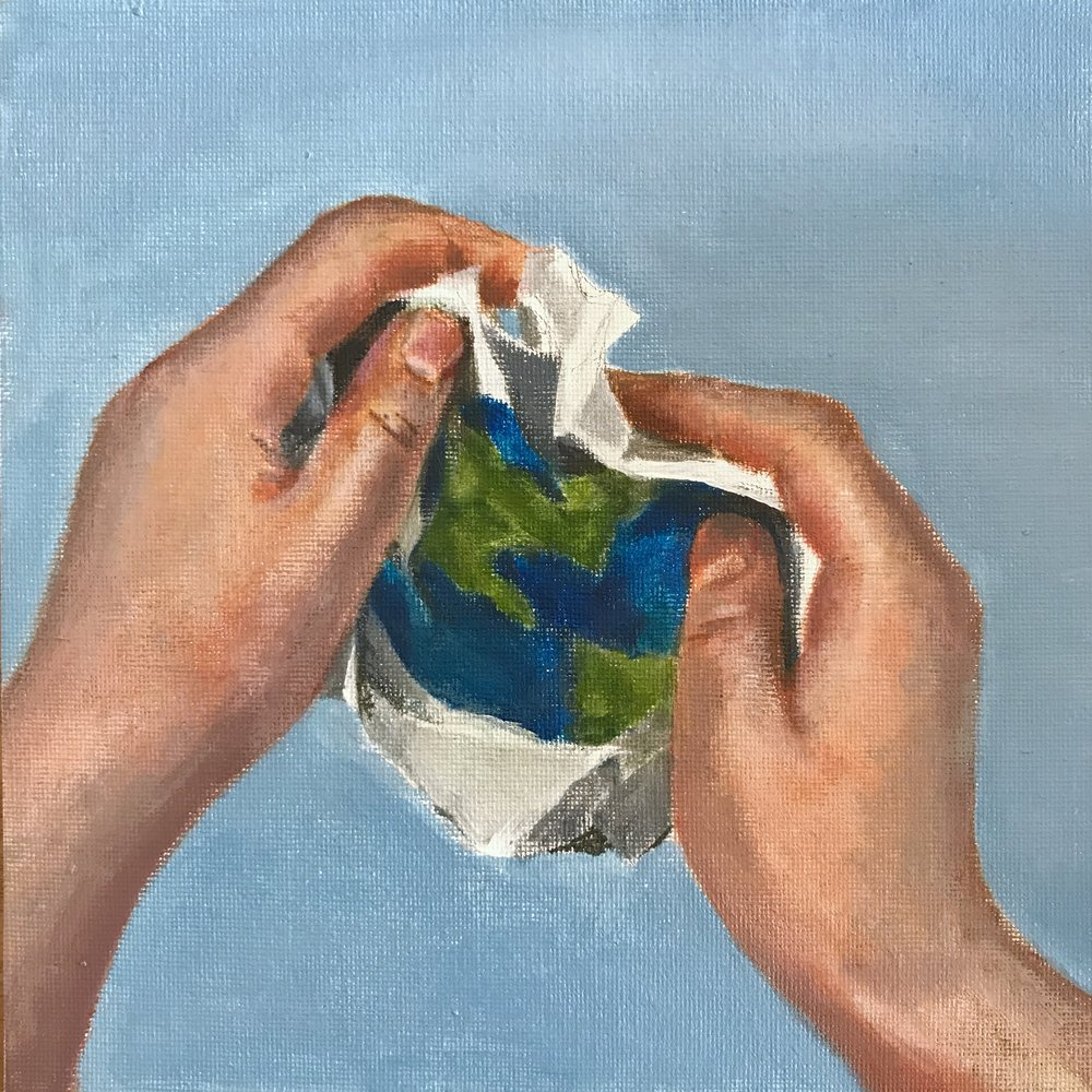 Earth campaign  by Kelly Acrylic on canvas board