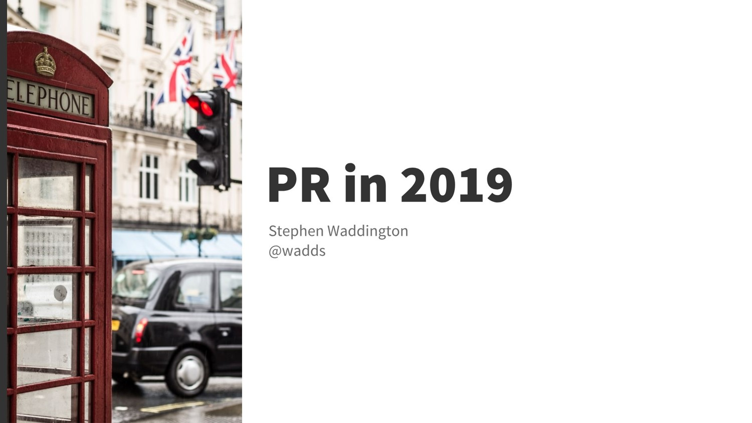 wadds.co.uk - Public relations in 2019
