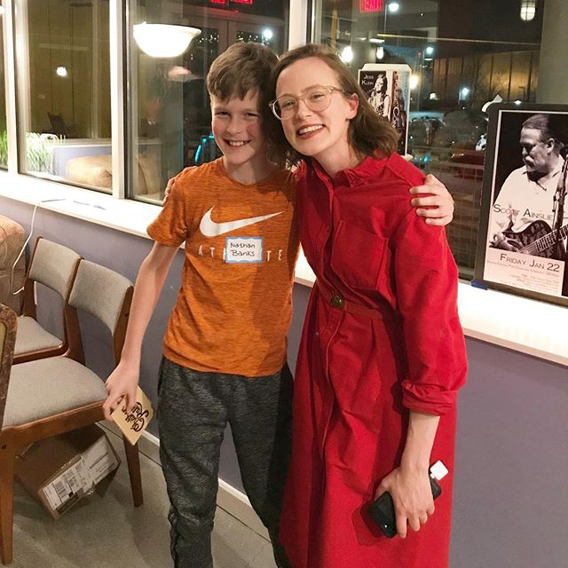 As many of y'all know, I was a teacher before playing music full-time. It is always a joy to see one of my students at a Chatham Rabbits show. This is Nathan and he came to our show this weekend to celebrate his 11th birthday 🎉 AND his mom made him the COOLEST birthday cake 🎂 swipe ➡️ to see a picture of his Chatham Rabbits cake 🍰 Happy Birthday, Nathan. The sky's the limit ❤️