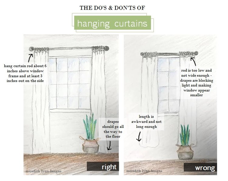 HOW TO HANG CURTAINS Meredith Lynn Designs