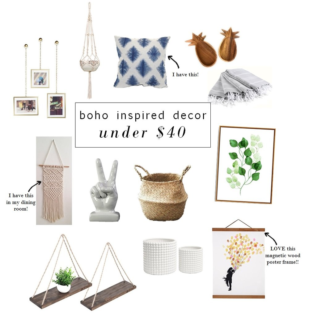 Brass Photo Frames  |   Macramé Plant Hanger  |  Blue Pillow  |  Wood Pineapple Dish  |  Turkish Hand Towels  |  Macramé Wall Hanging  |  Ceramic Peace Sign  |  Belly Basket  |  Watercolor Print  |  Swing Shelves  |  White Plant Pots  |  Magnetic Wood Frame