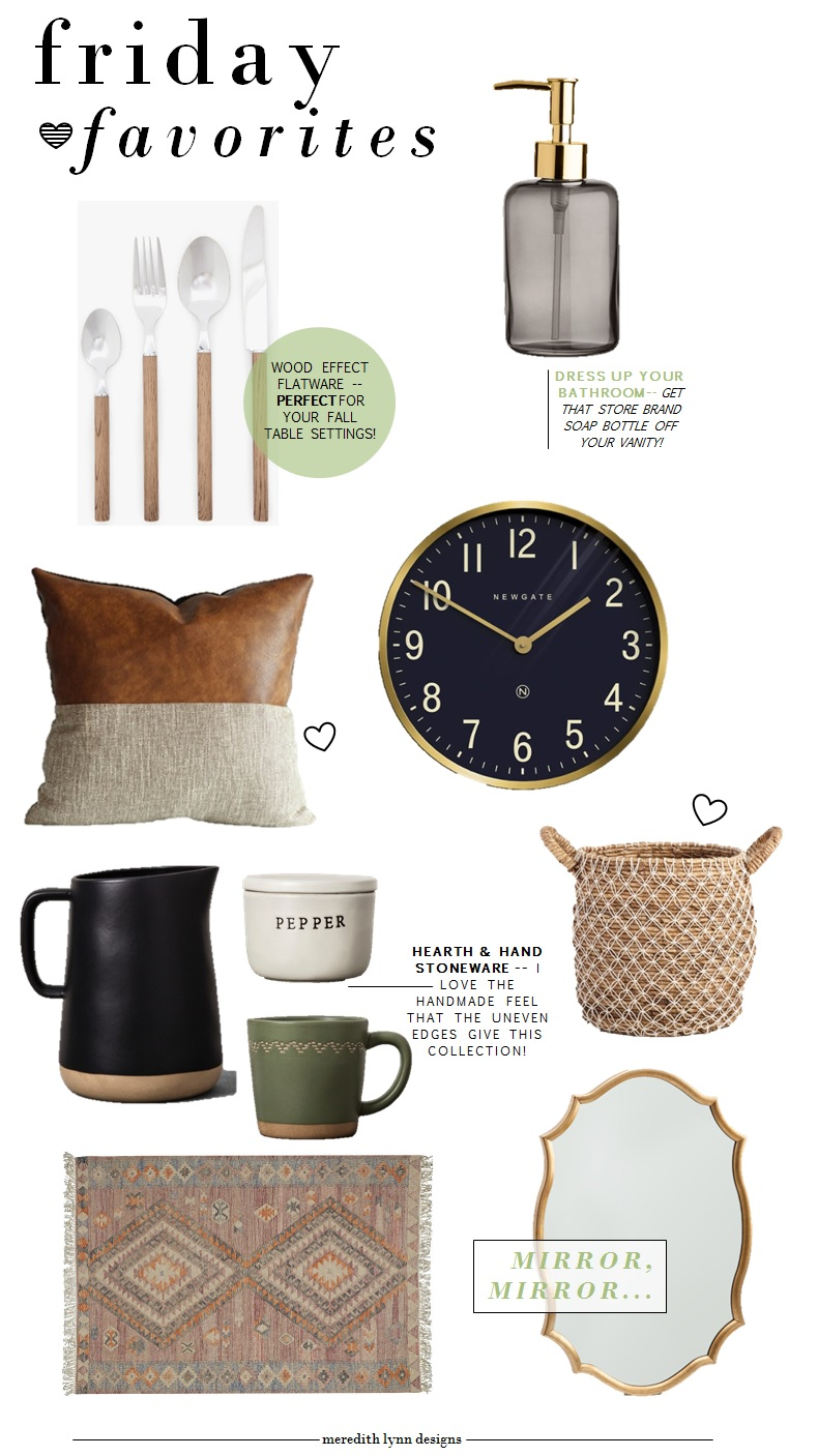 Flatware  |  Soap Dispenser  |  Cushion Cover  |  Black Pitcher  |  Mug  |  Pepper Bowl  |  Mirror  |  Rug  |  Wall Clock  |  Basket