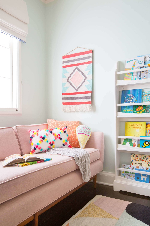 Cozy reading nook via  Emily Henderson