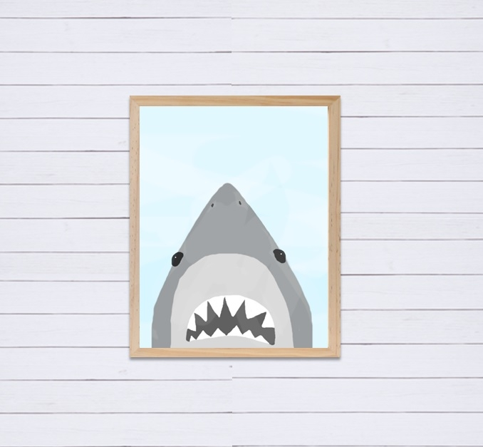 I have this  Shark Print  in Nathan's playroom