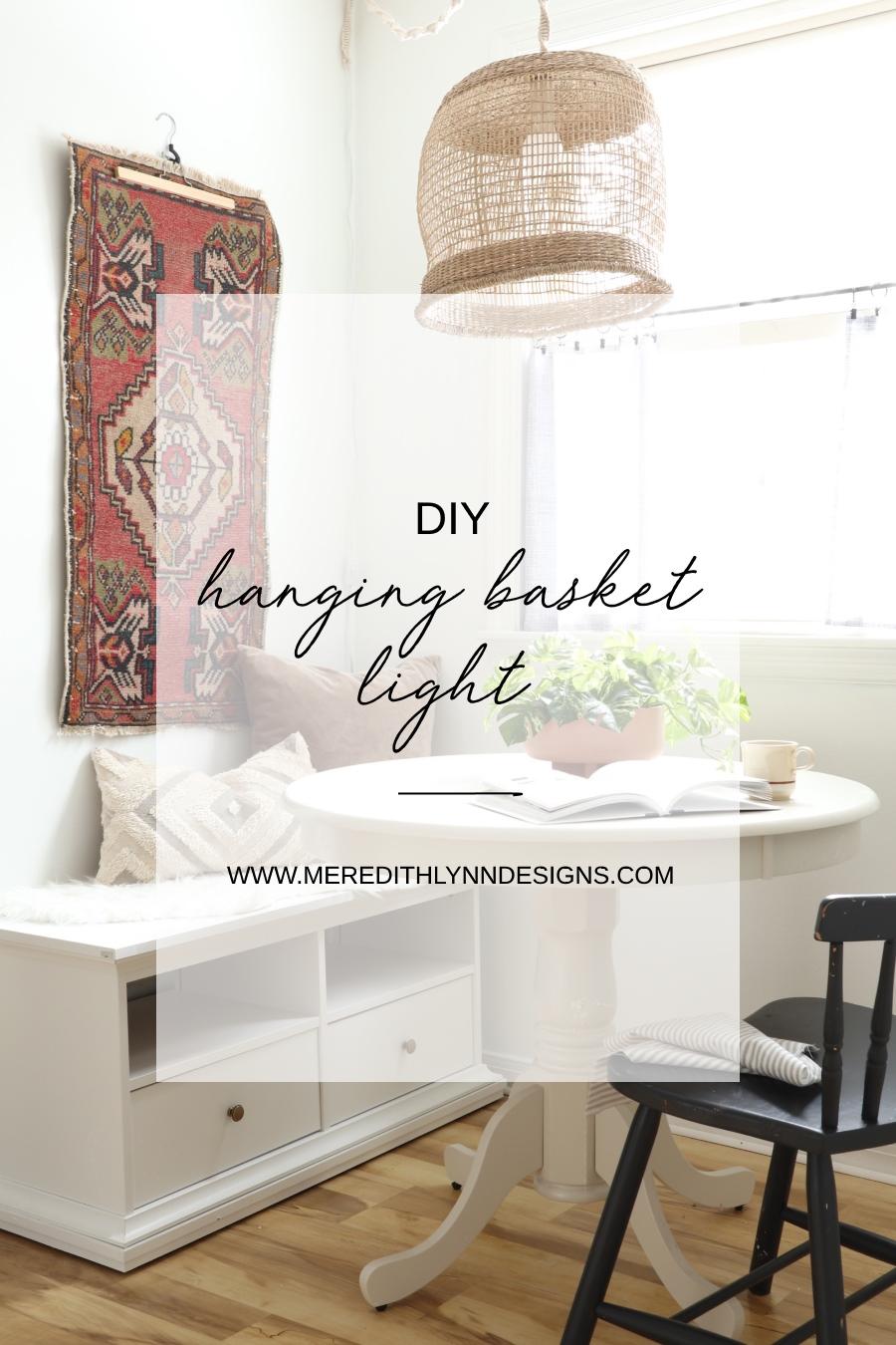 Diy Hanging Basket Light Meredith Lynn Designs