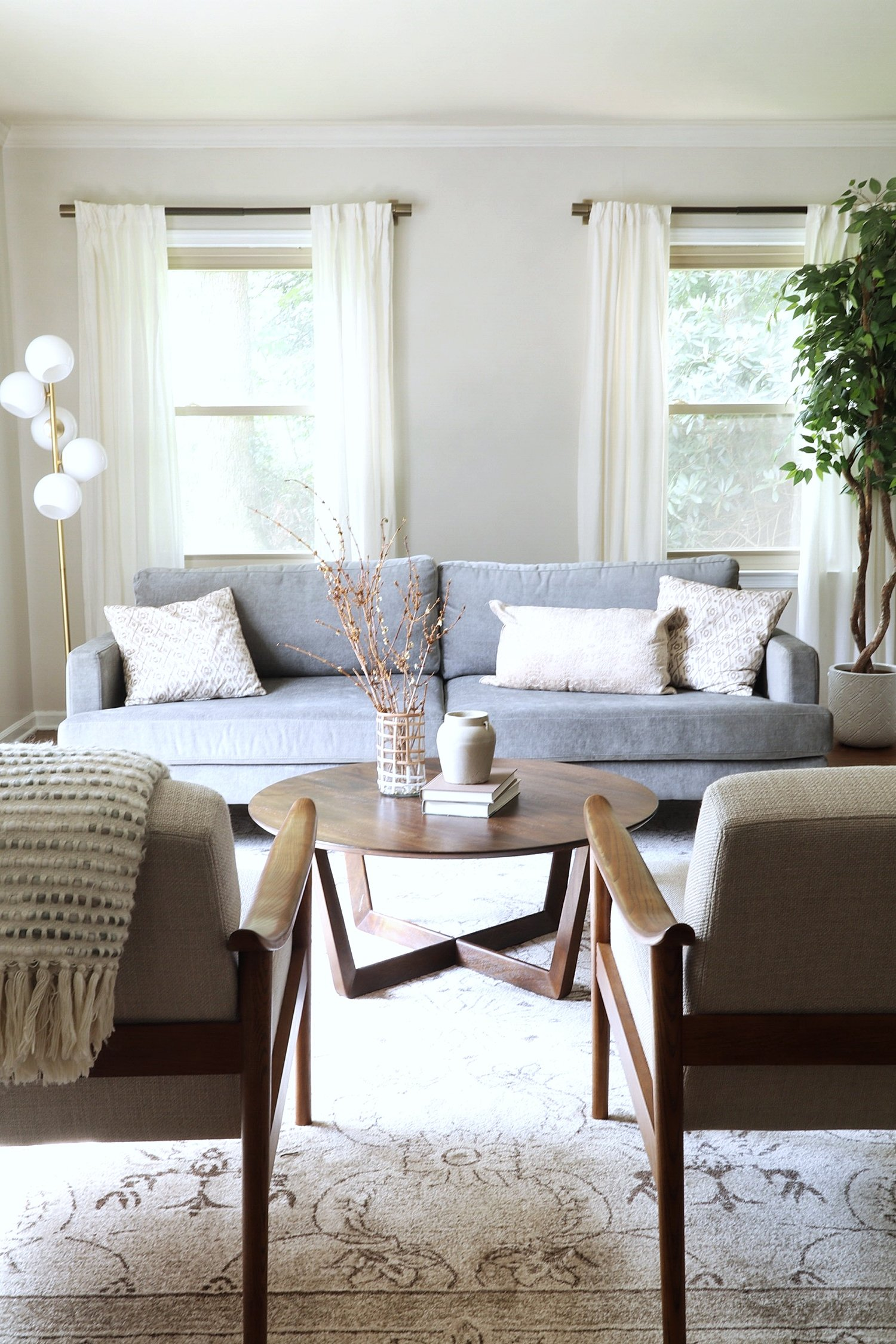 How To Layout Furniture In Your Narrow Living Room Or Around A Fireplace Meredith Lynn Designs