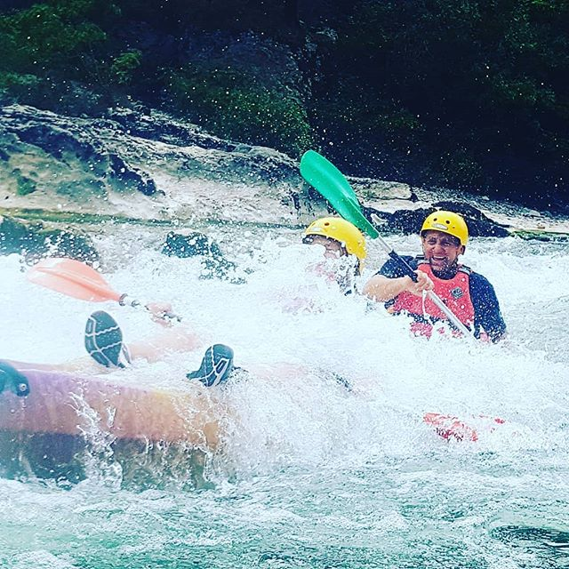 Come to the Ardeche, where you can get your own back on your children! #FaceFullOfWater #KidsInTheFrontGetSoaked #Ardeche #Canoeingholiday #Kayakingholiday #T_O_E #DreamTeam #T_O_E