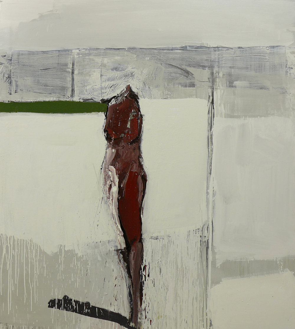 Alegoría de la espera,  201 6   Óleo sobre lienzo      170 x 150 cm