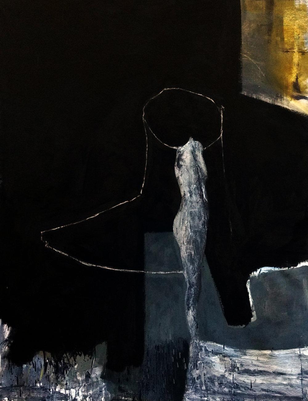 Maniquí de mujer,  2017     Óleo sobre lienzo  130 x 100 cm