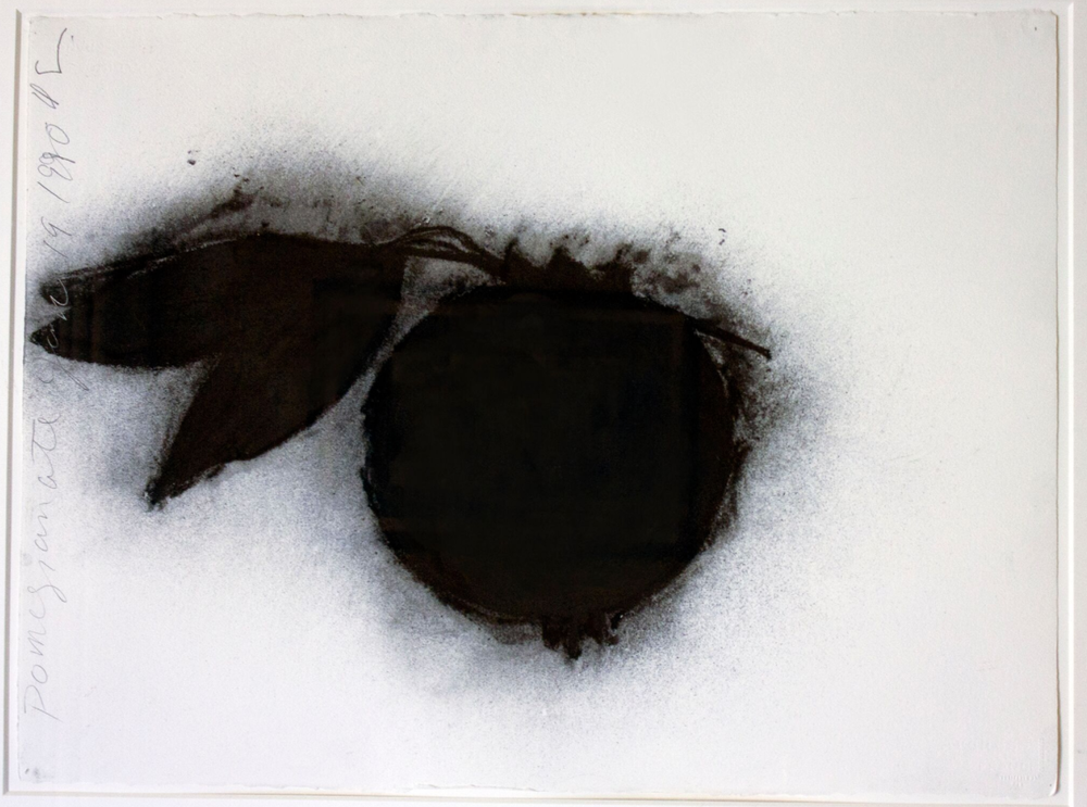 Donald Sultan    Pomegranate,   1990  Charcoal on paper  57,1 x 75,9 cm