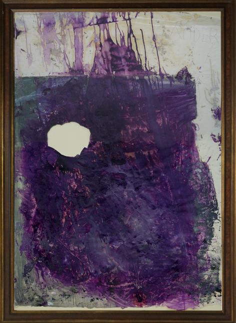 Julian Schnabel    Sander, 1992  Óleo sobre papel y cartulina  118 x 169 cm