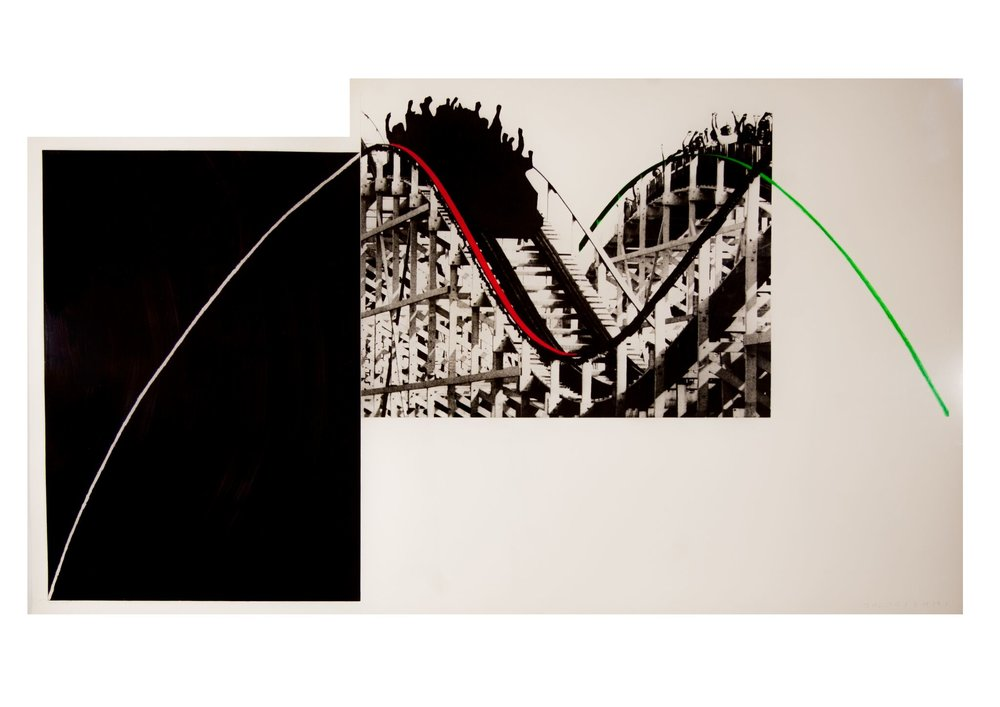John Baldessari    Rollercoaster,   1989  Photogravure with watercolor ink printed on paper Somerset Satin 410G  99 x 171,5 cm